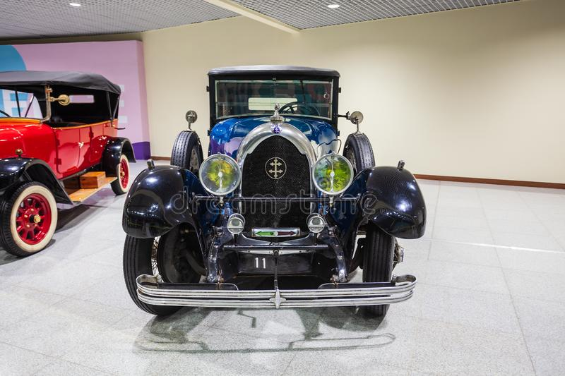 Retro cars exhibition, Domodedovo Airport royalty free stock image