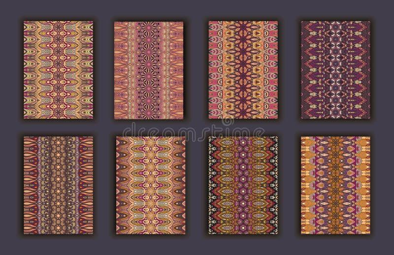 Retro carte della raccolta Origini etniche Carta dell'invito illustrazione di stock