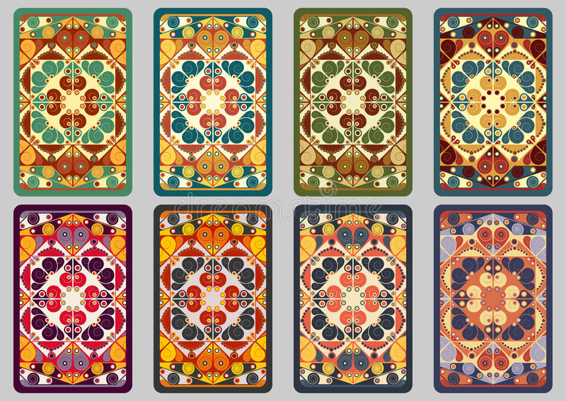 Retro carte stabilite royalty illustrazione gratis