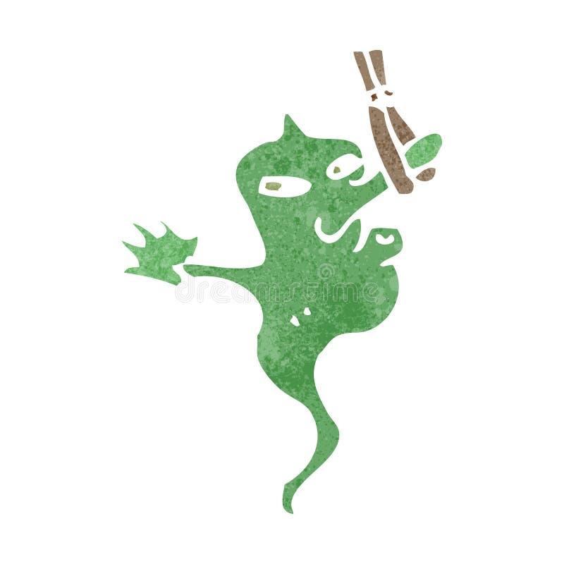 retro cartoon bad smell vector illustration