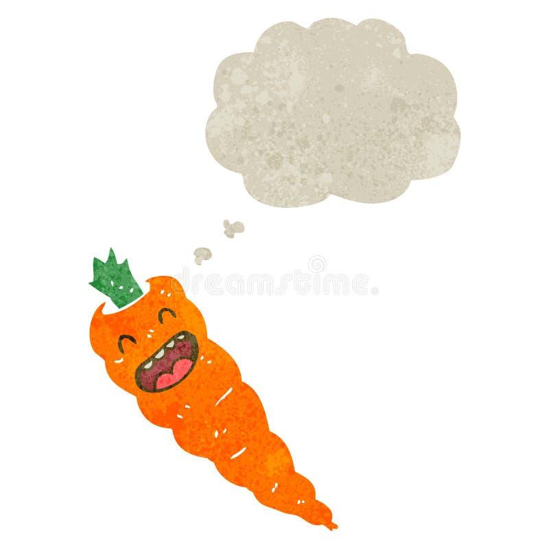 retro cartoon carrot vector illustration