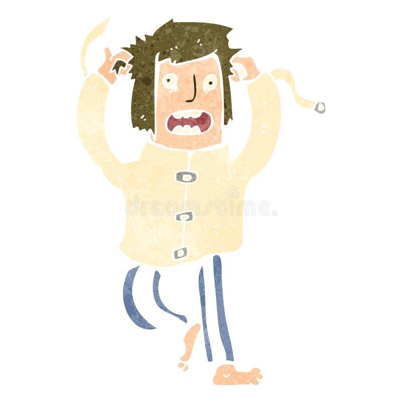 Download Retro Cartoon Crazy Mad Man Stock Vector - Image: 37597896