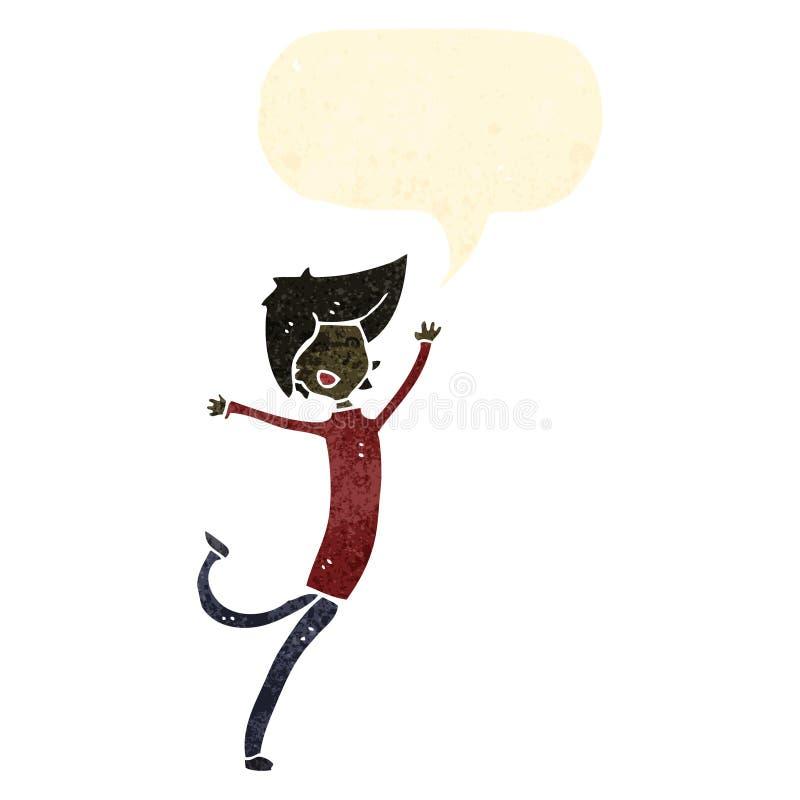 Download Retro Cartoon Dancing Boy Stock Vector Illustration Of Colorful