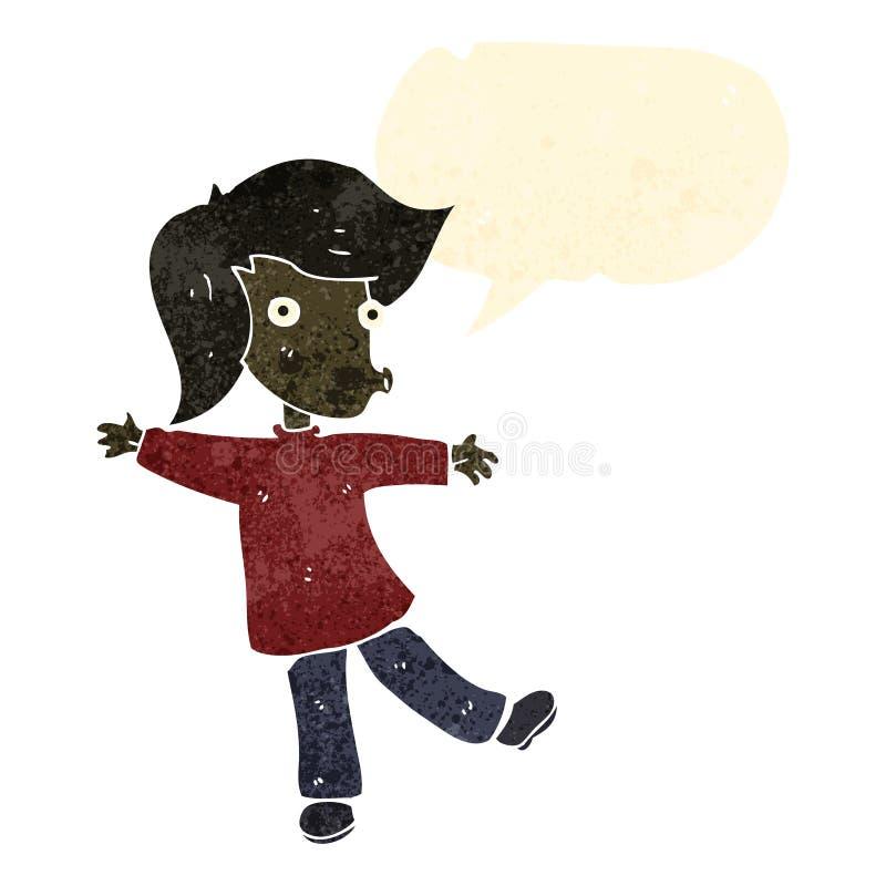 Download Retro Cartoon Dancing Boy Stock Vector Illustration Of Speech