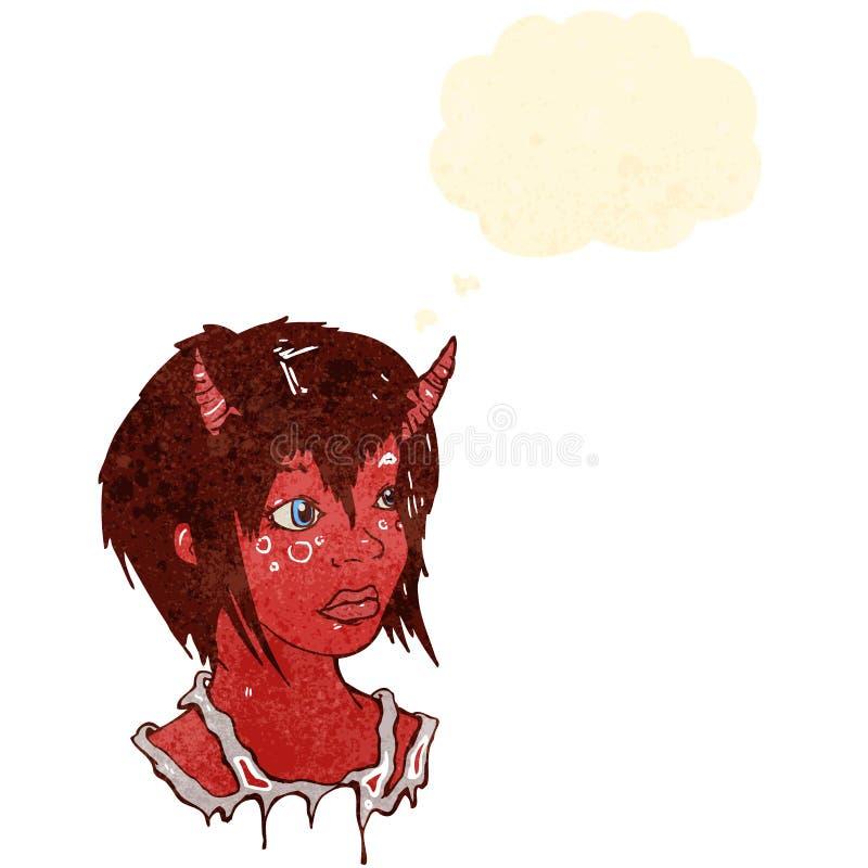 Download Retro cartoon devil girl stock vector. Image of grunge - 37576962