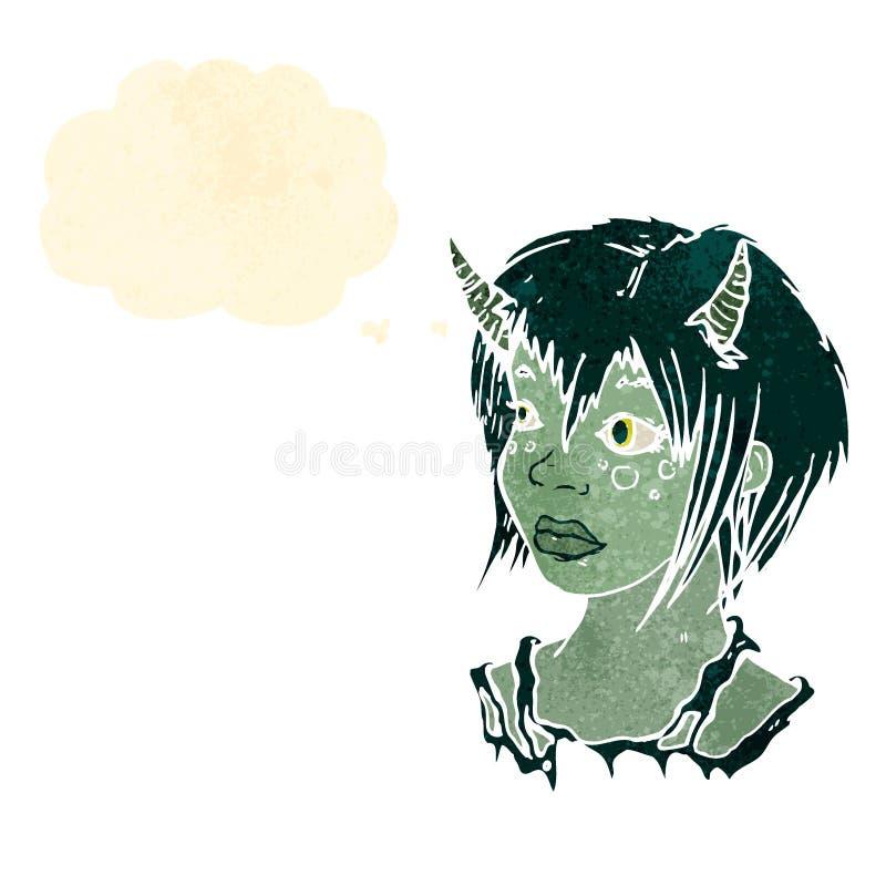 Retro Cartoon Devil Woman Royalty Free Stock Image