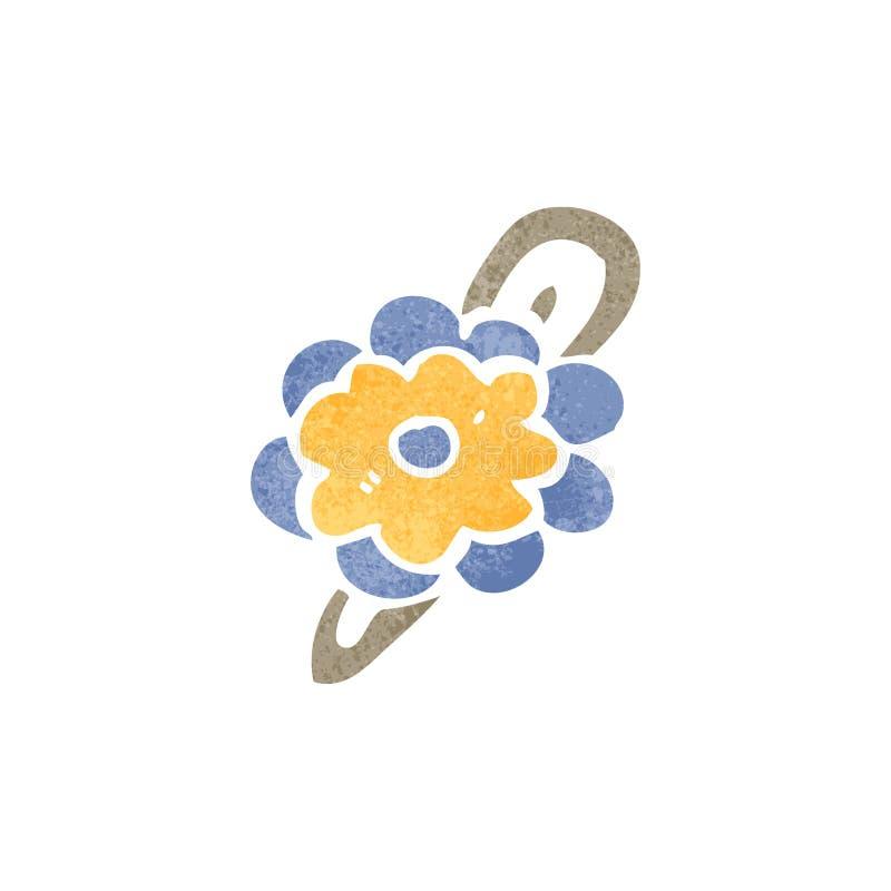 Download Retro Cartoon Flower Hair Clip Stock Vector - Image: 37584741