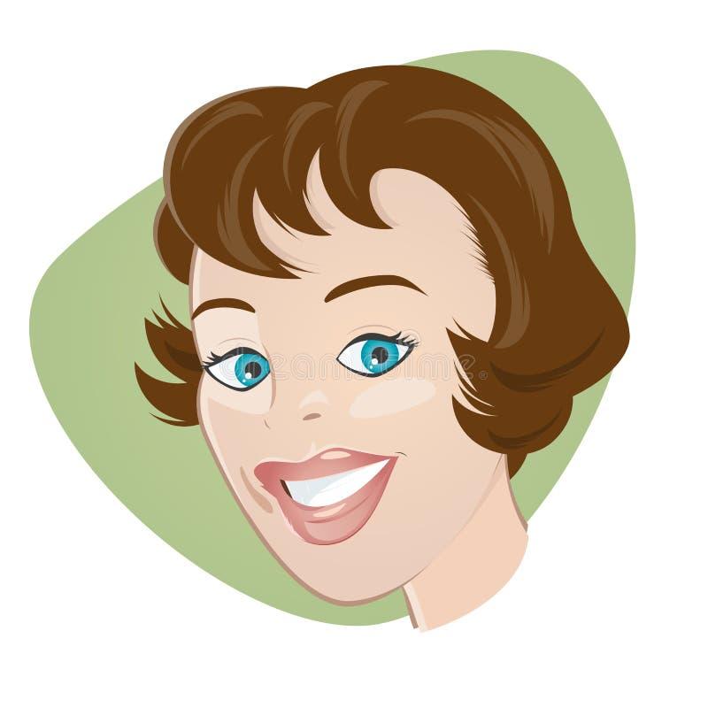 Download Retro cartoon girl stock vector. Image of head, motif - 34759644