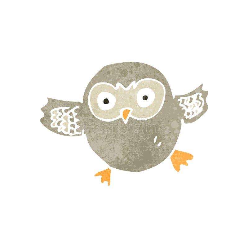 retro cartoon owl vector illustration