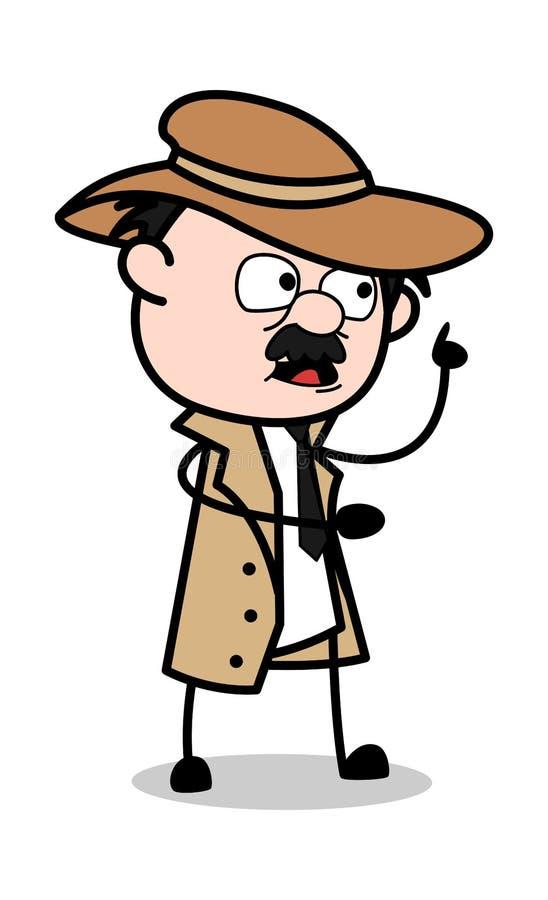Talking Expression - Retro Cartoon Police Agent Detective ...