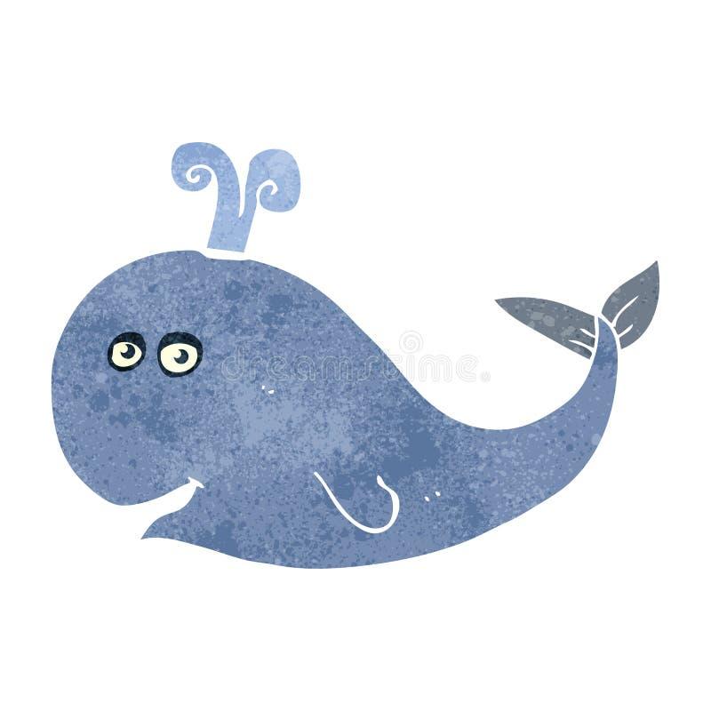 retro cartoon whale stock illustration