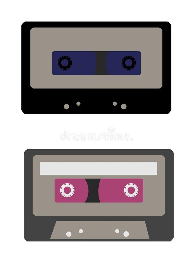Retro cassette illustrations stock photo