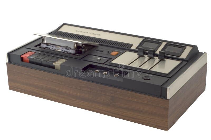 Retro cassette recorder royalty free stock photo