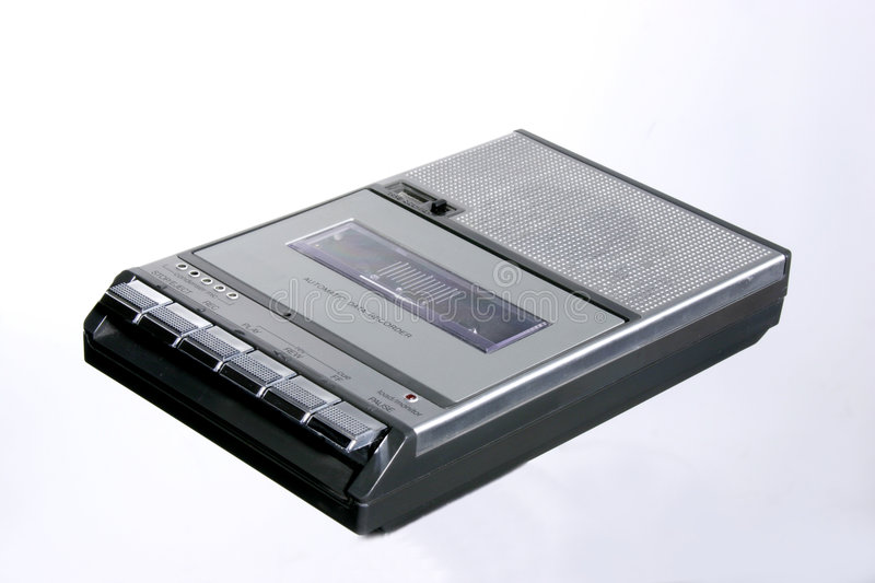 Download Retro Cassette recorder stock image. Image of chrome, seventies - 499091