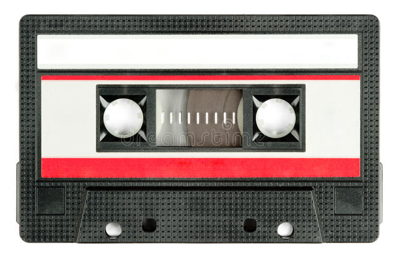 Retro cassette tape stock photo