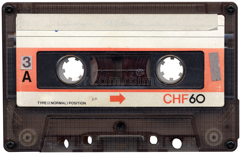 Retro Cassette Tape stock image