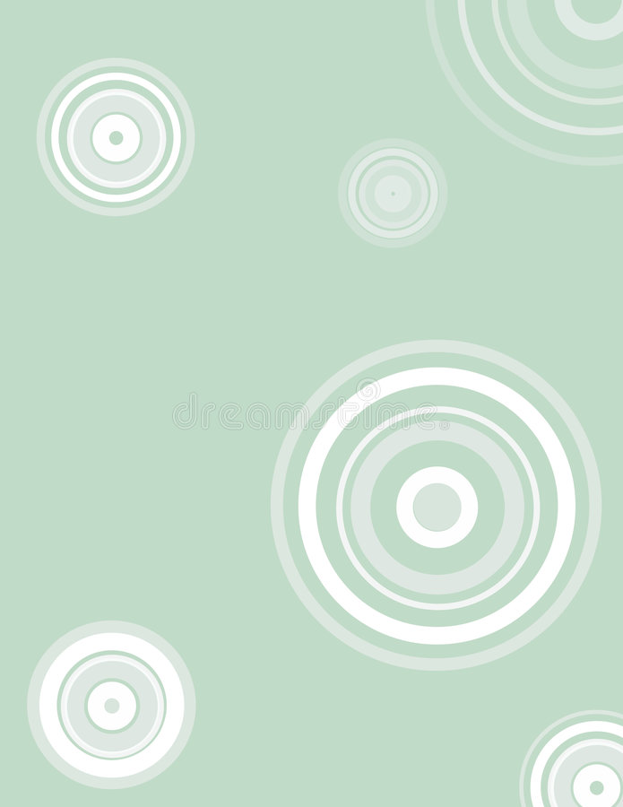 Retro cerchi illustrazione di stock
