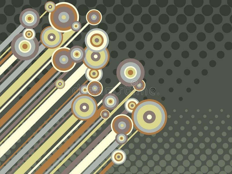 Retro cerchi e bande illustrazione di stock