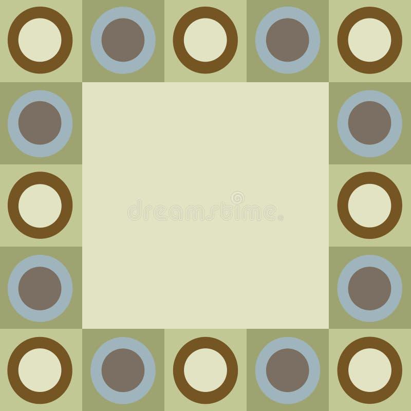 Retro cerchi e bordo dei quadrati illustrazione di stock