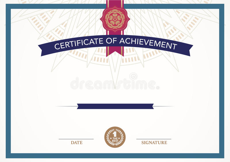 download retro certificate design template stock vector illustration of award deco 60363842