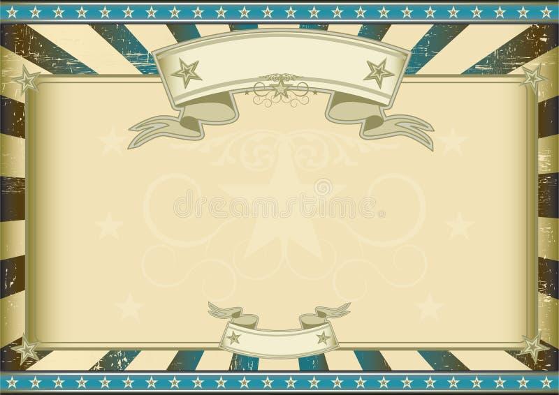 Retro certificato blu strutturato illustrazione vettoriale