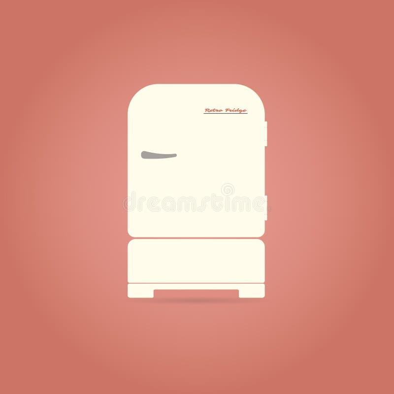 Retro chłodziarki mieszkania ikona ilustracji
