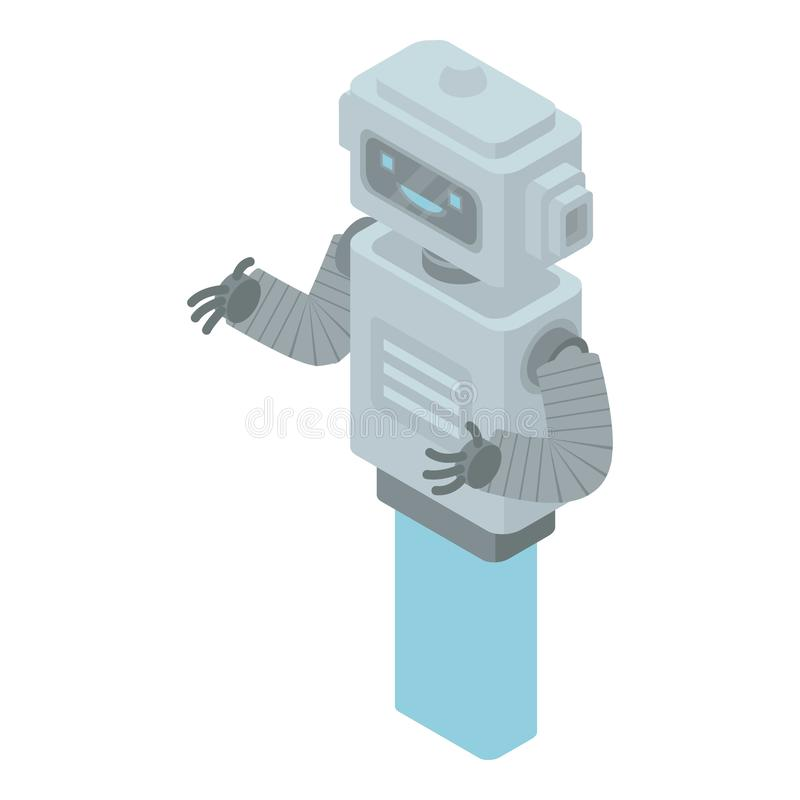 Retro chatbotsymbol, isometrisk stil royaltyfri illustrationer