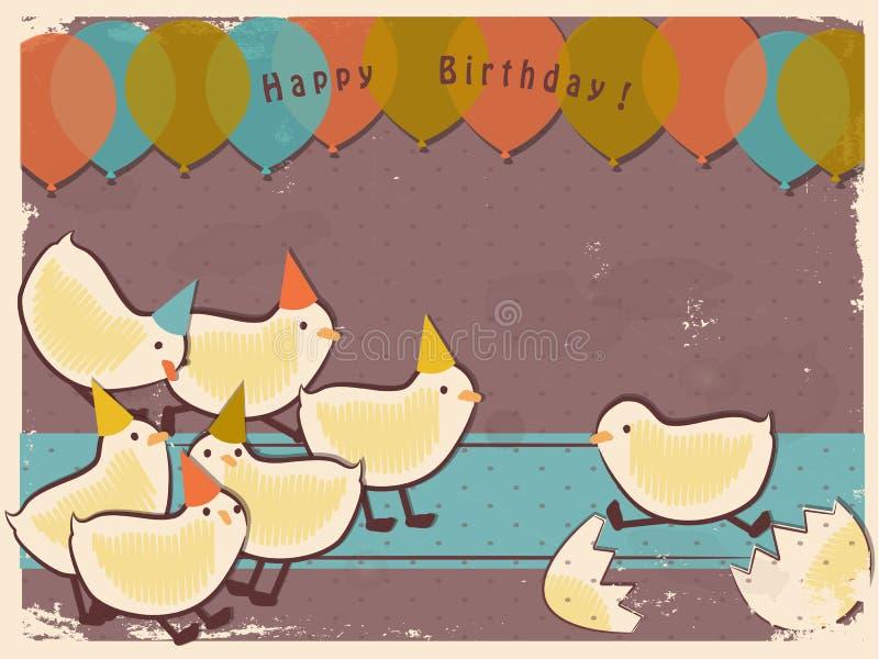 Download Retro chicks stock illustration. Image of bird, card - 29169019