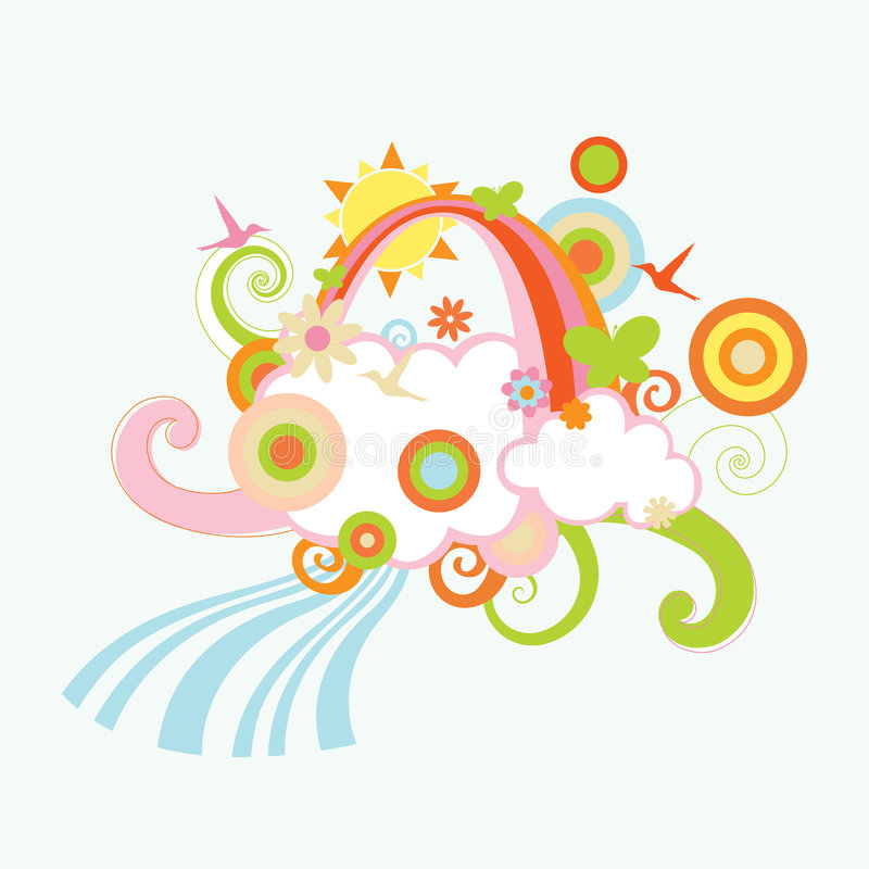 Download Retro Childrens' Background Royalty Free Stock Images - Image: 7986529