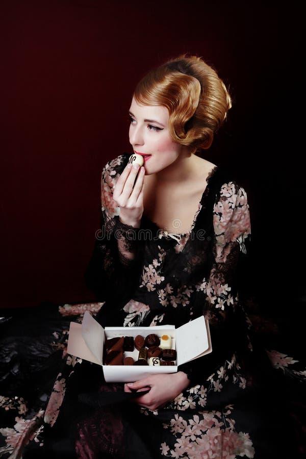Retro chocolade stock foto's