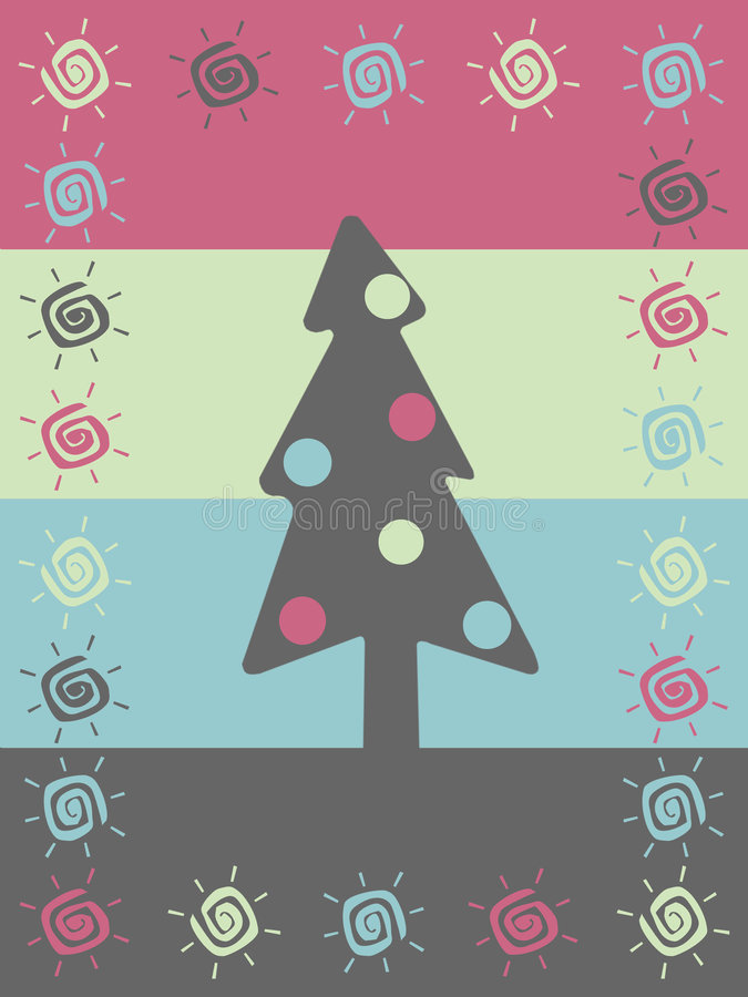 Retro Christmas background vector illustration