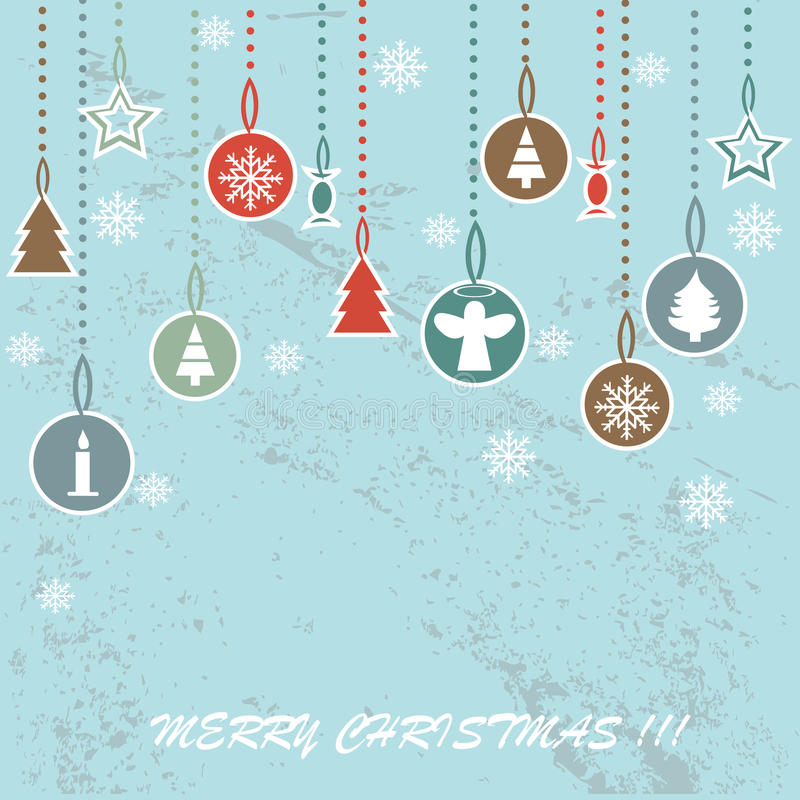 Free Retro Christmas Background With Decorative Balls Stock Photos - 45831103