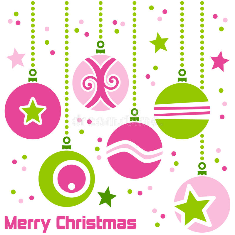Retro Christmas Balls royalty free illustration