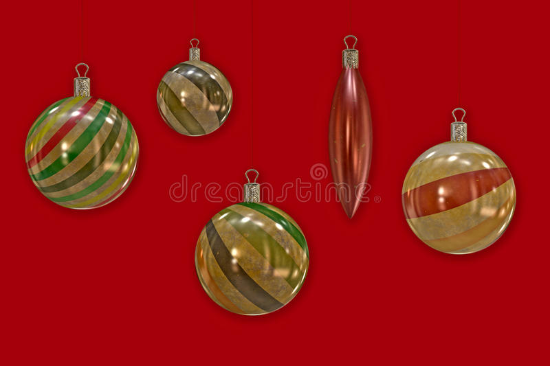 Retro Christmas balls. royalty free stock photography