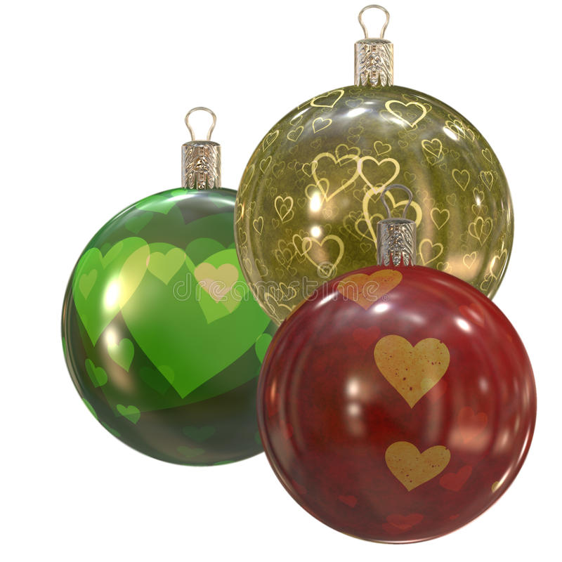 Retro Christmas balls. royalty free stock photo