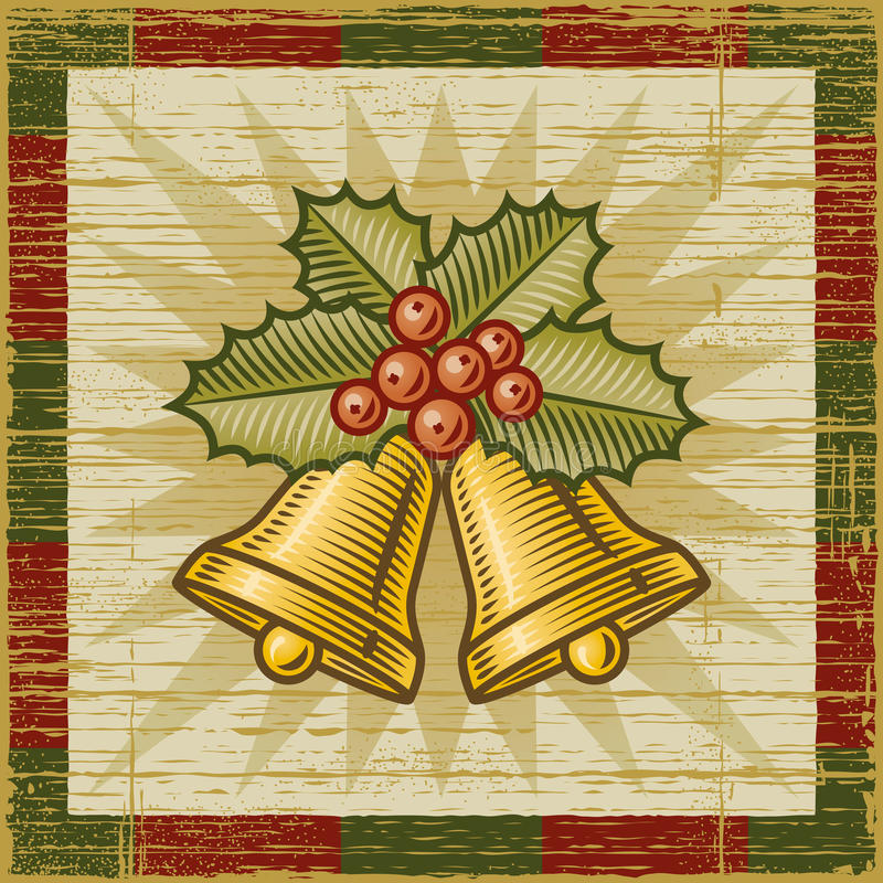 Download Retro Christmas bells stock vector. Image of green, design - 22334582