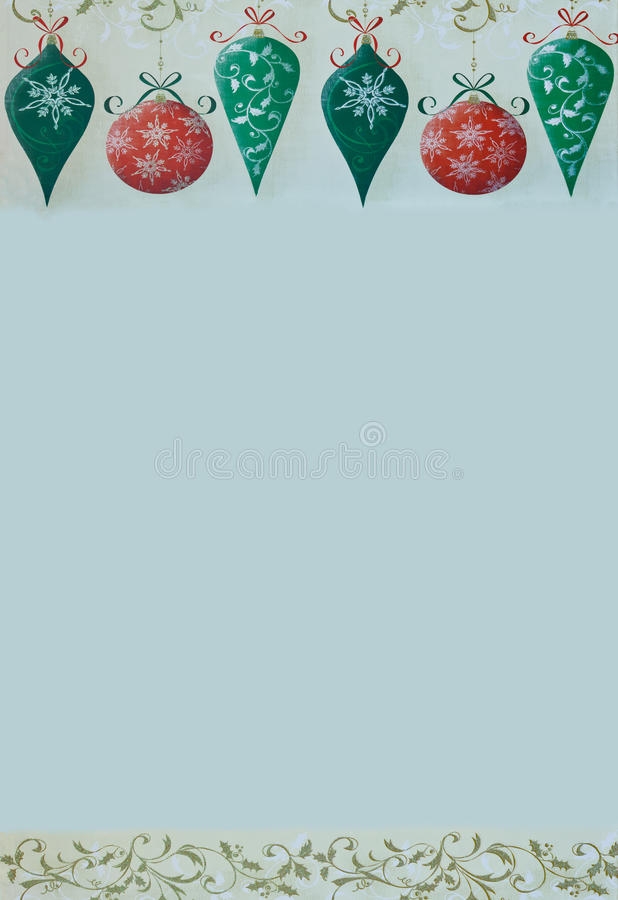 Retro Christmas Border. On a gray background royalty free illustration