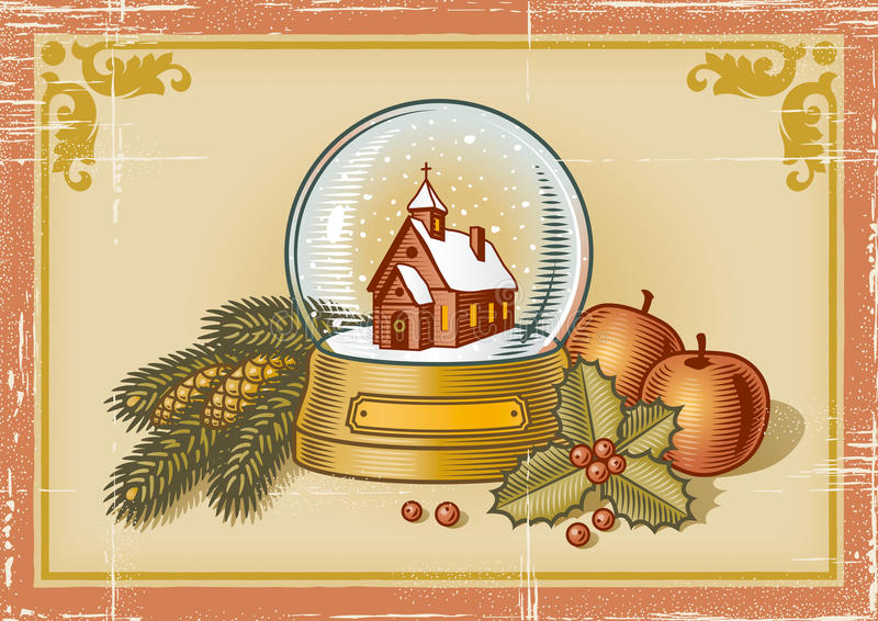 Download Retro Christmas card stock vector. Illustration of plant - 11890317