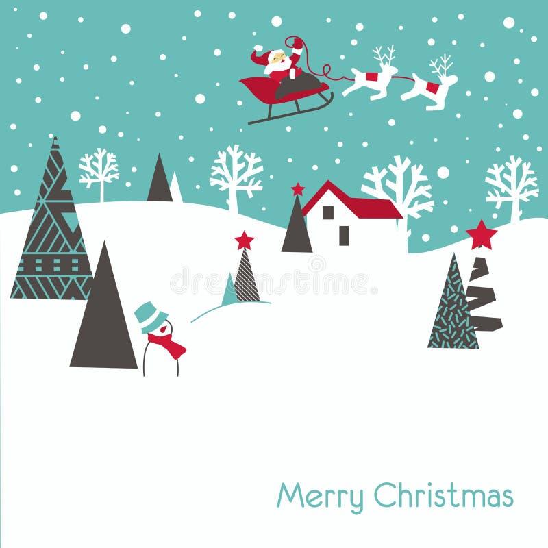 Free Retro Christmas Card Royalty Free Stock Photo - 21139335