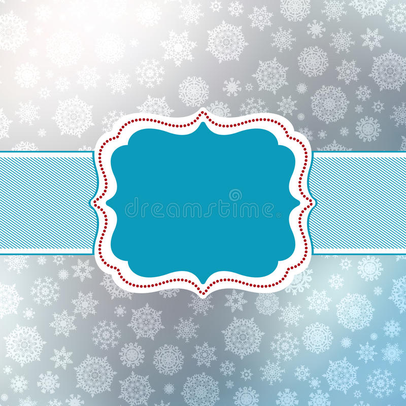 Retro Christmas Card Template. EPS 8 Royalty Free Stock Photo