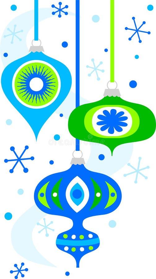 Retro Christmas Ornaments/eps vector illustration