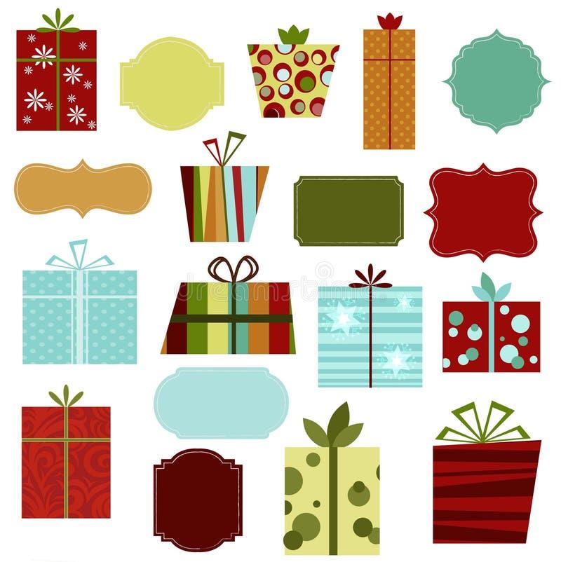 Retro Christmas Presents stock illustration