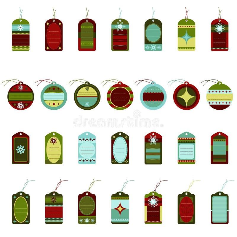 Retro Christmas Tags royalty free illustration