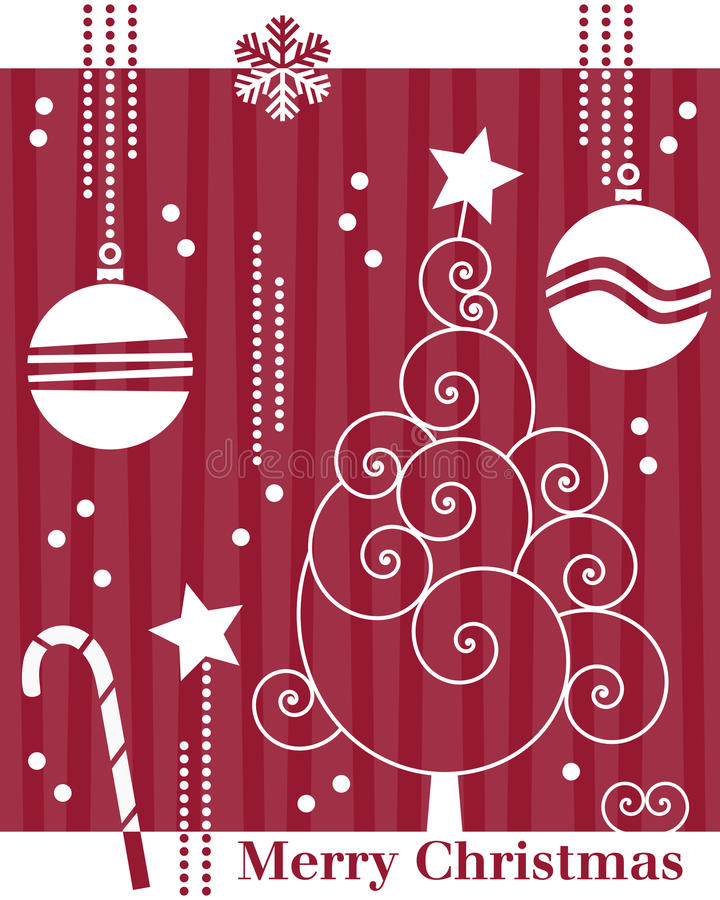 Download Retro Christmas Tree Card [1] Stock Vector - Image: 11593618