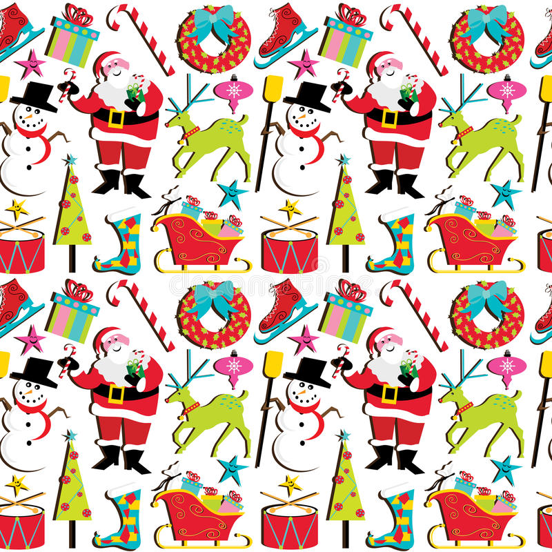 Retro Christmas Wallpaper Royalty Free Stock Photography