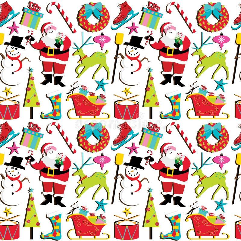 Retro Christmas Wallpaper Stock Vector. Illustration Of