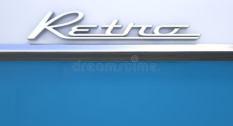 Retro Chrome Car Emblem royalty free stock photo