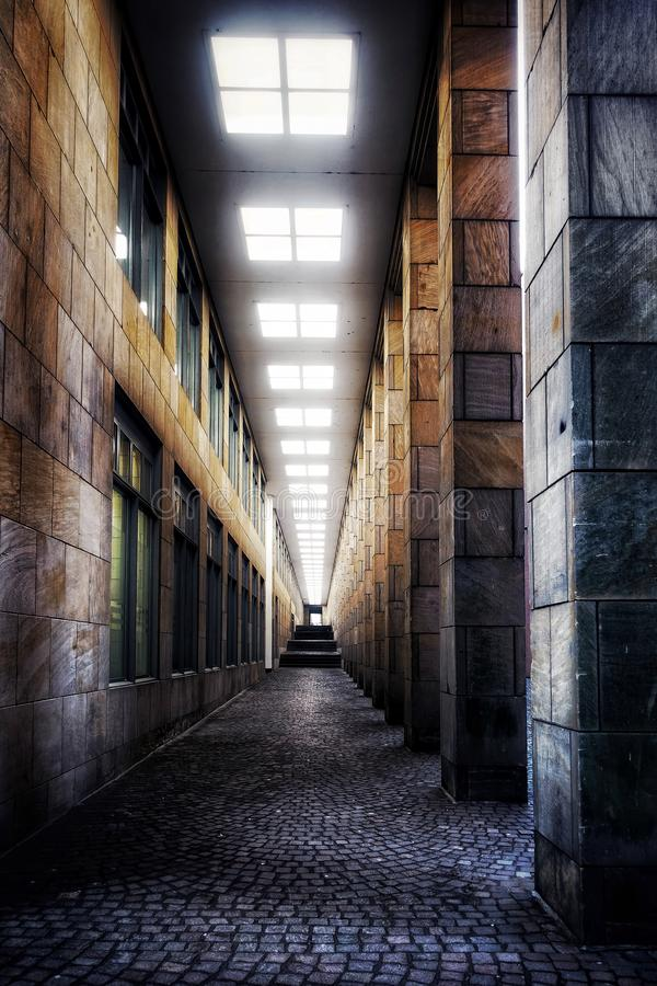 Retro Ciemny korytarz obraz royalty free