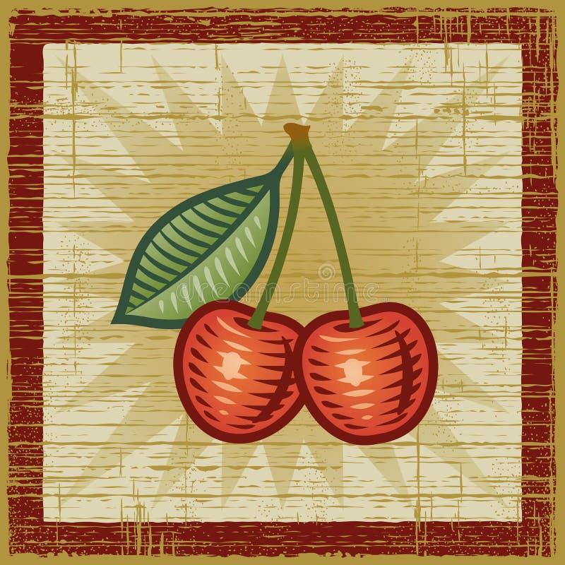 Retro ciliegia royalty illustrazione gratis