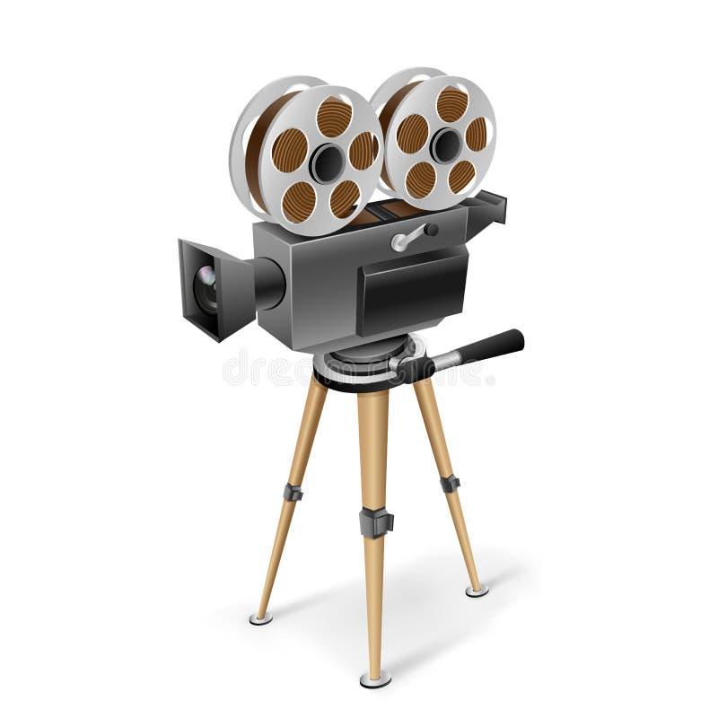 Retro cinema camera stock illustration
